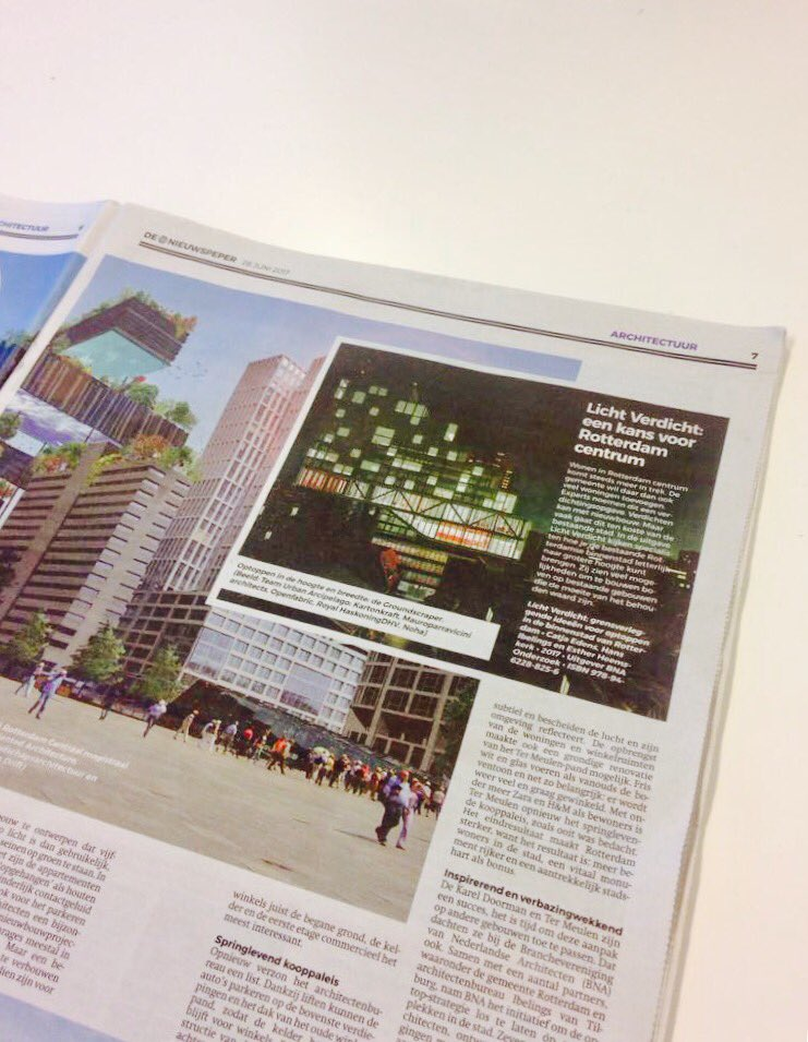 Our #groundscraper published today in @denieuwspeper : glad to reach out the large public via a daily paper rather than a glossy #magazine! <br>http://pic.twitter.com/vf0V4SJJy7