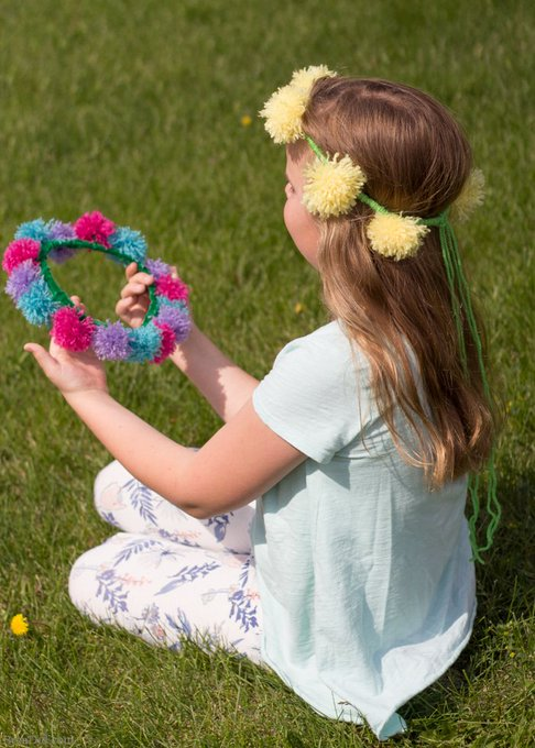 DIY Flower Crowns Made with Easy Tassel Flowers