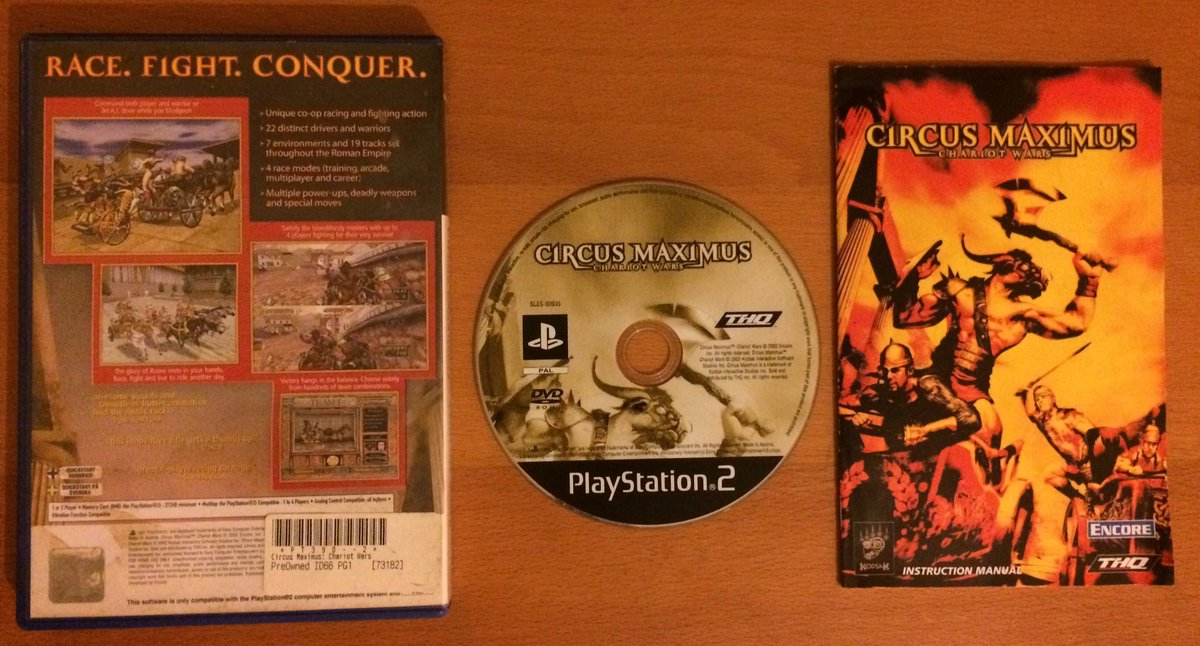 Today&#39;s selection from #TheCollection   #Circus #Maximus #Chariot #Wars #THQ #PS2 #Gaming #RetroGaming<br>http://pic.twitter.com/hTdBSPH68b