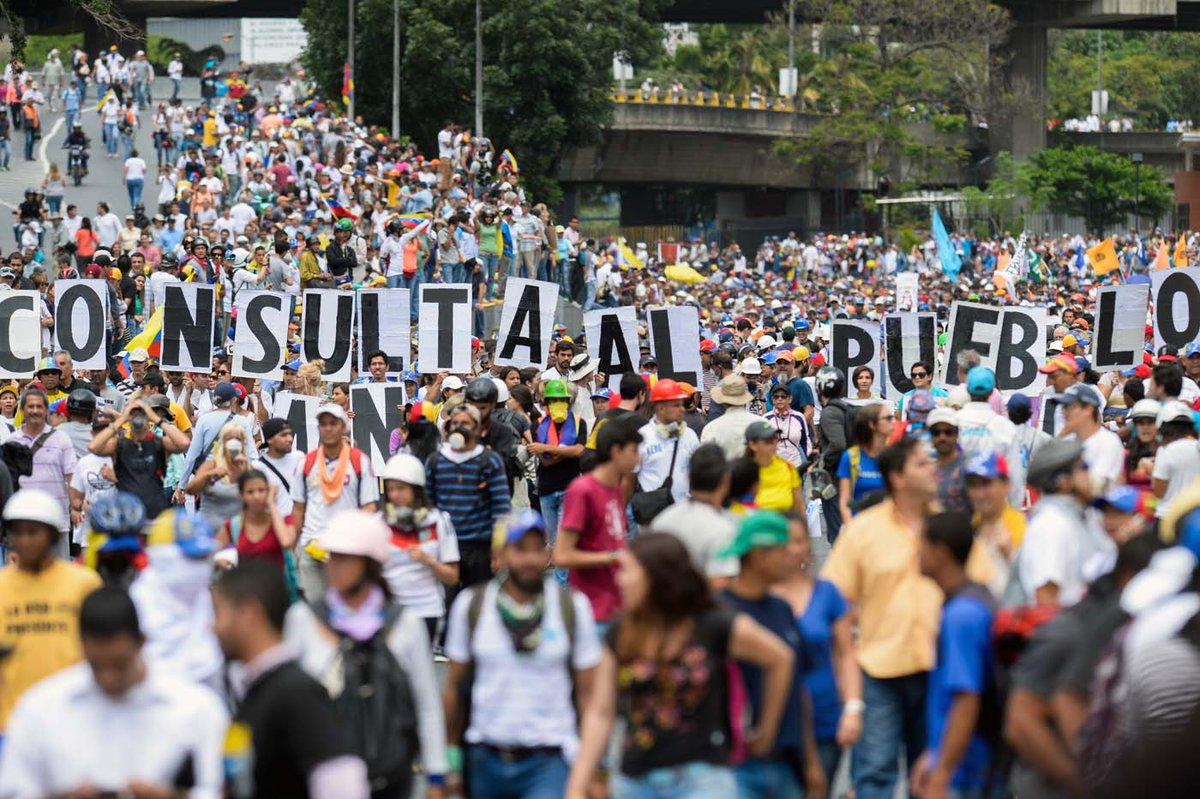 Unidad marchará hacia el CNE este #29Jun contra el fraude Constituyent...