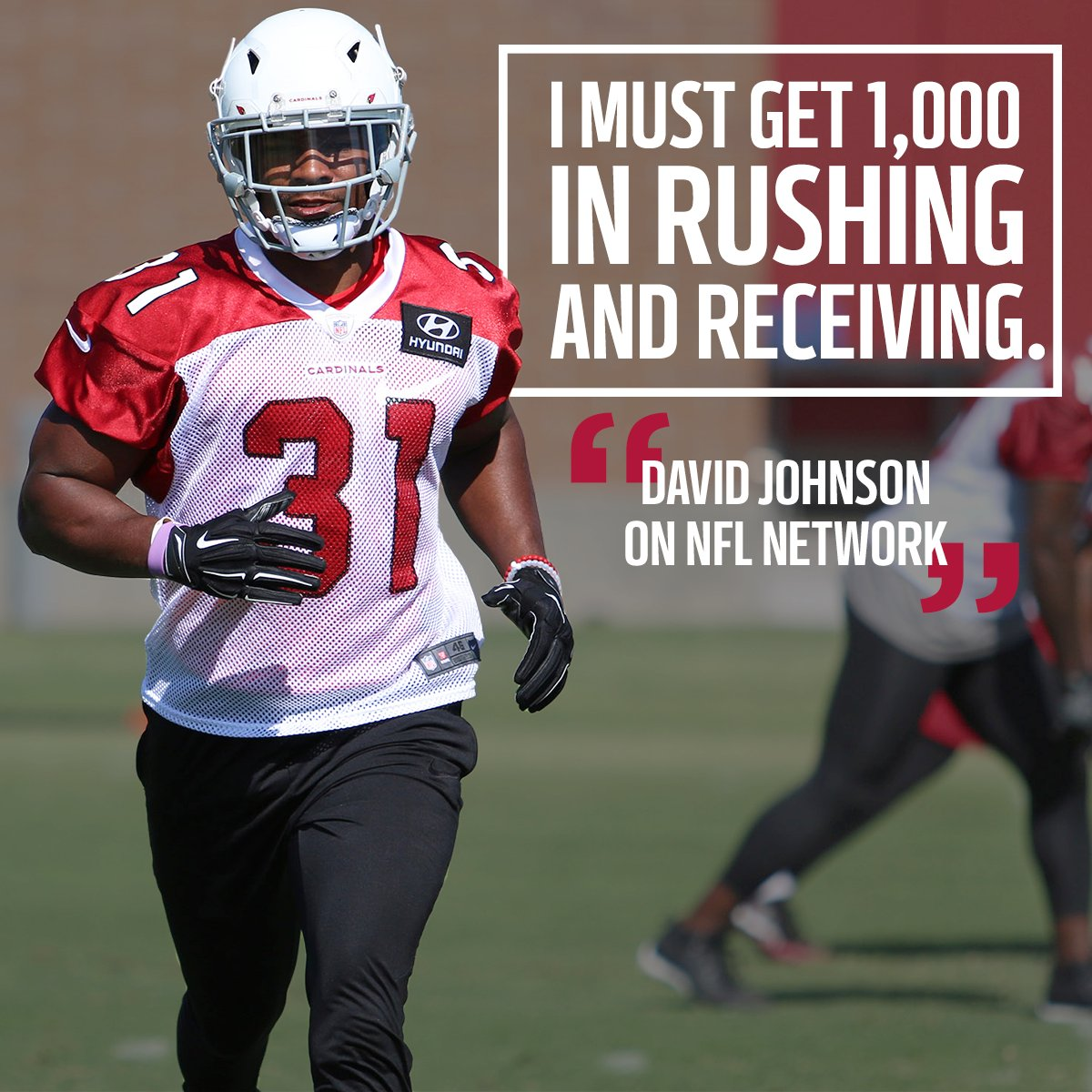 RB @DavidJohnson31 is a man on a mission.  He's going for 1,000 rushin...
