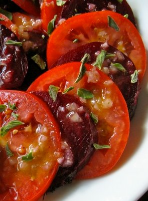 Tomato and Beet Salad