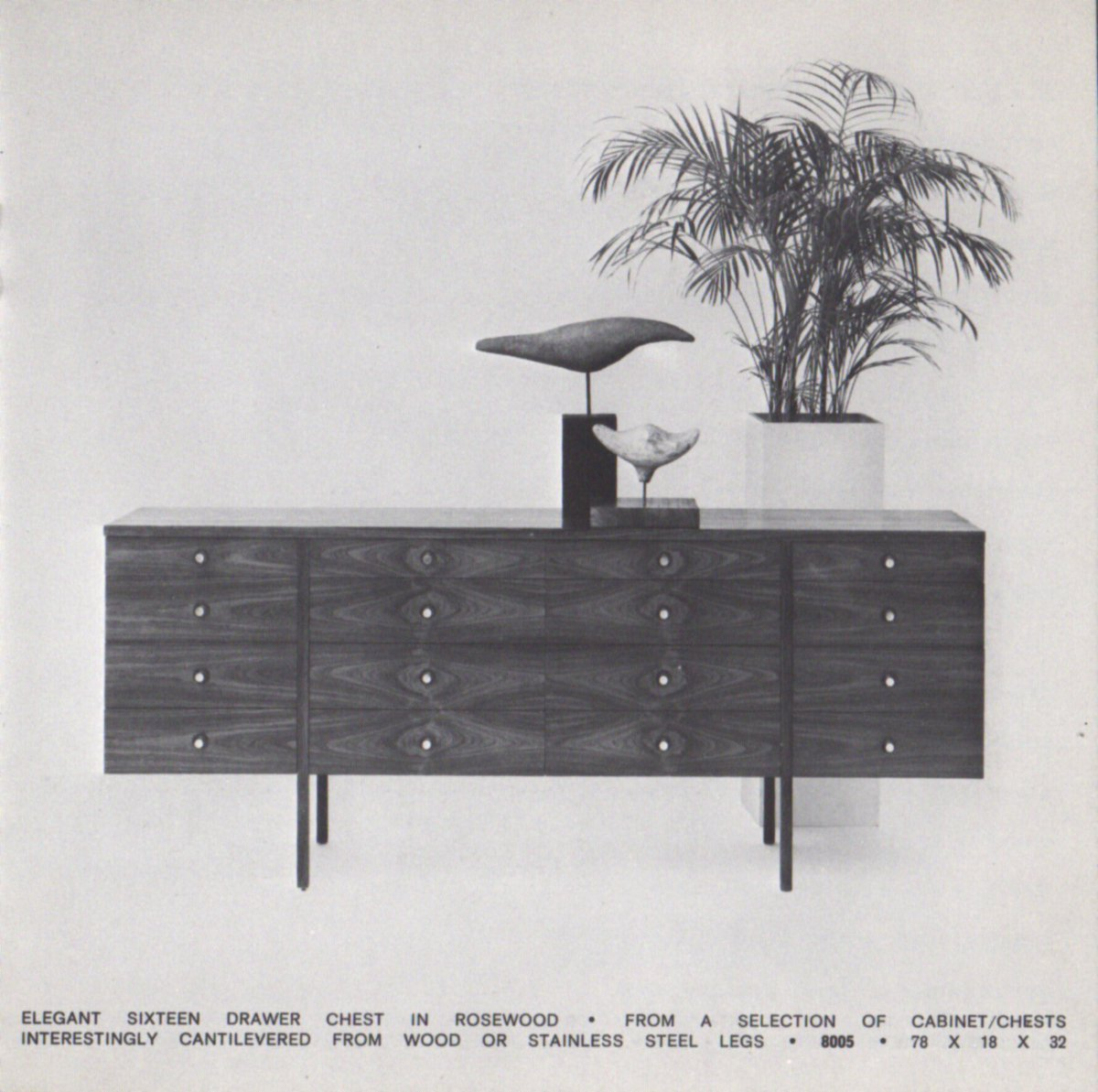 #PaulMcCobb Cantilevered Chest From His Final Collection In  1965pic.twitter.com/0iXCZC6yB5