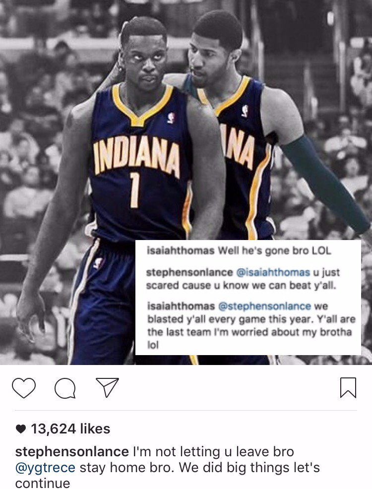 The PG trade rumors have everybody on edge 😂 https://t.co/mr0s2ETEuT h...