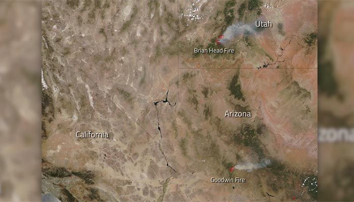 WHOA. NASA captures image of wildfires from space. https://t.co/Fy8XfZ...