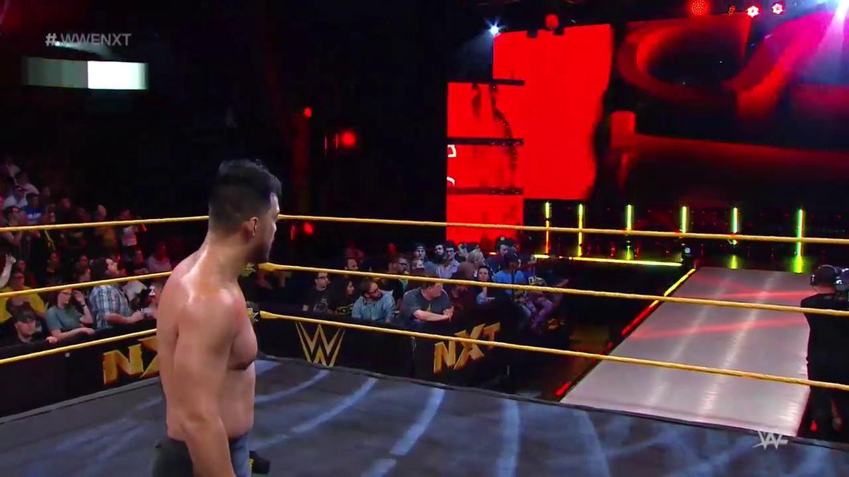 Why did @HideoItami just request @KassiusOhno's presence in the ring?...