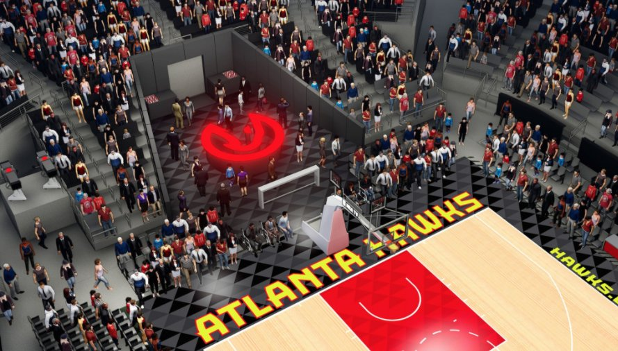 The new Hawks arena will have a courtside bar and a barbershop 👀 (h/t...