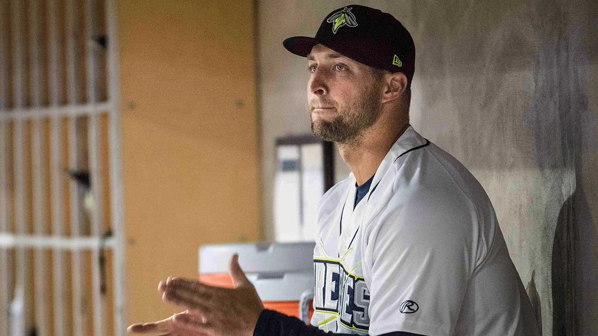 Watch: Tim Tebow homers on first day with new minor-league team.  http...