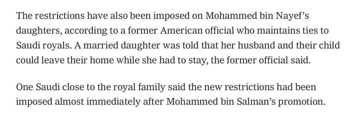 بنات #بن_نايف ممنوعات من مغادرة قصرهن 'تحت الإقامة الجبرية'، وممنوعات...