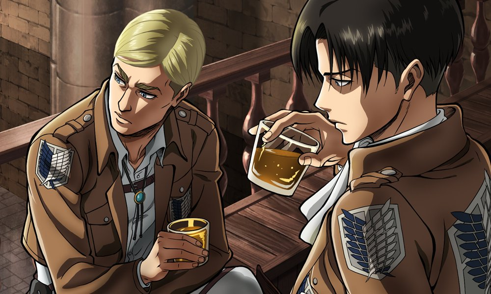 attack on titan wiki on twitter quotnew screenshot of erwin