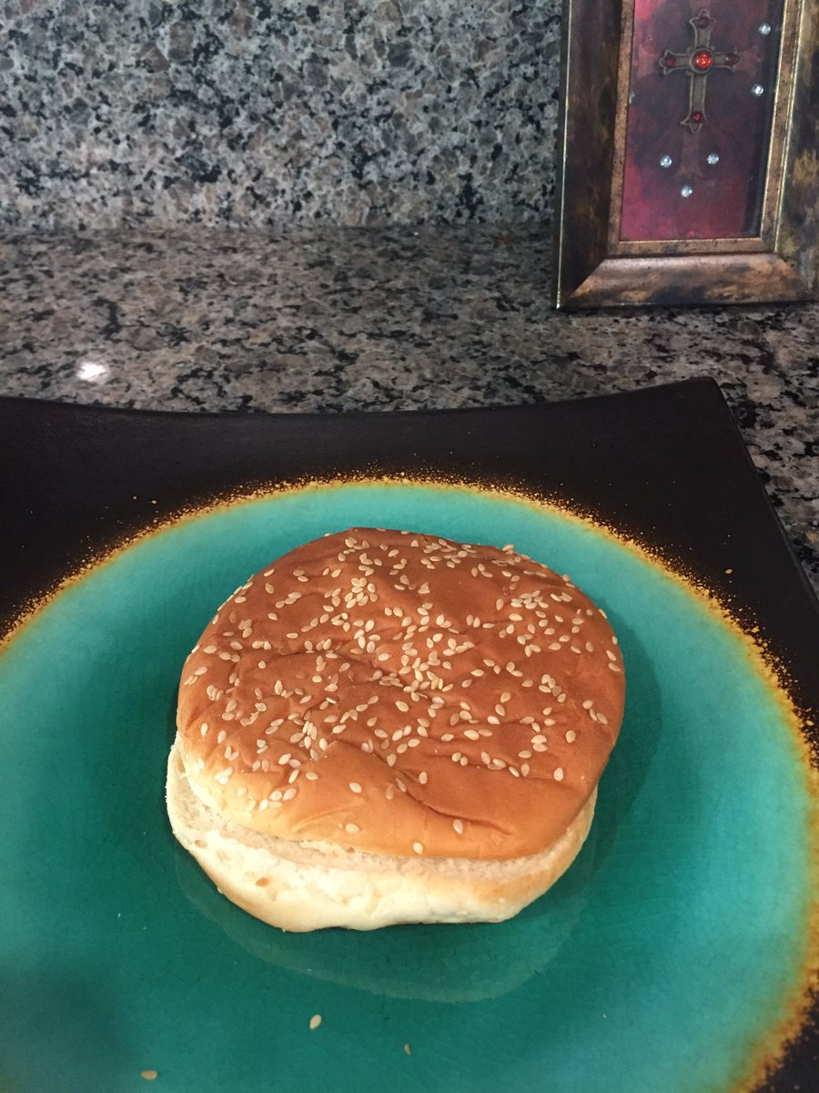 I'm having the best dinner ever. A nothing burger #TrumpBiographyTitle...