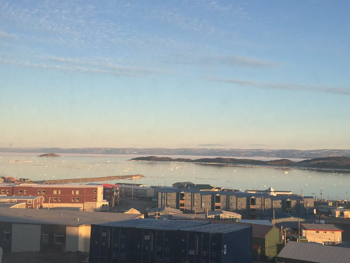 The view from here. Sunshine at 9:55 p.m. #Iqaluit https://t.co/TJYOsA...