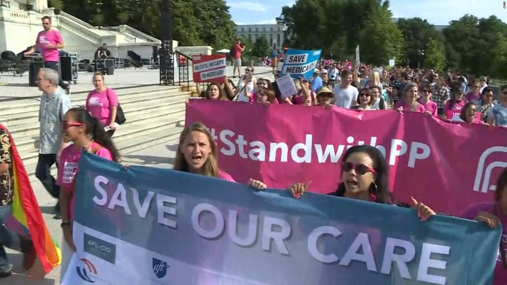 Activists protest the Republican health care bill on Capitol Hill http...