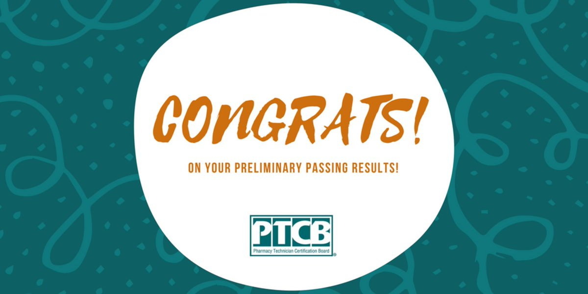 Ptcb On Twitter Congratulations Cartiss Well Done Pctb Cpht