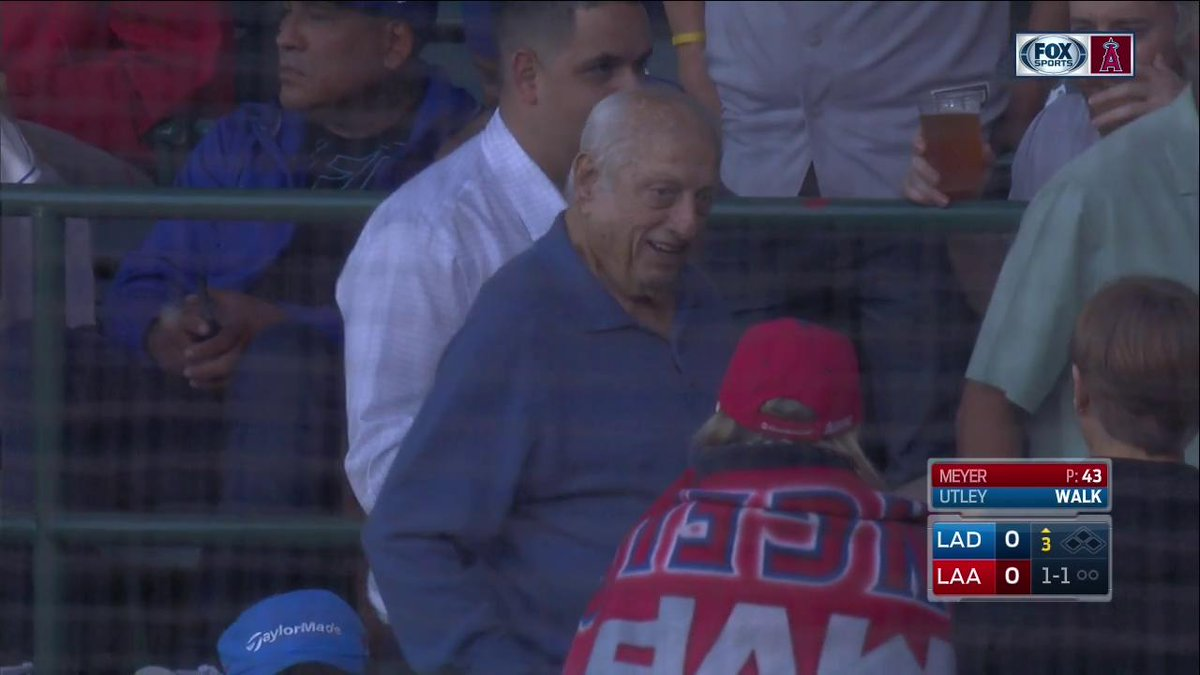 Whether you're an @Angels or a @Dodgers fan, it's always nice to see T...