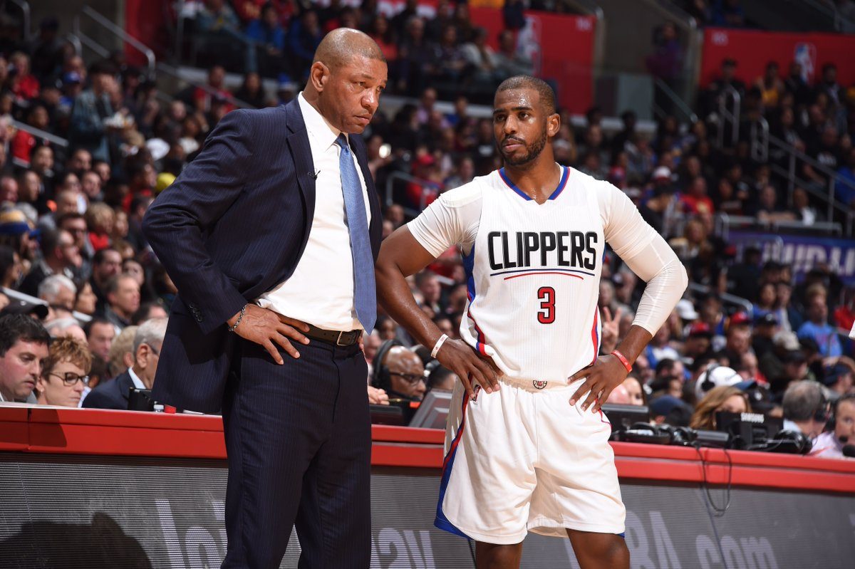"""'He left because he wanted to be with James Harden.""""  Doc Rivers comme..."""