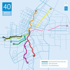 It takes 40 minutes or less to ride your bike from most areas of the city to @TheForks. #map #winnipeg #bike<br>http://pic.twitter.com/jrzTQvNeDM