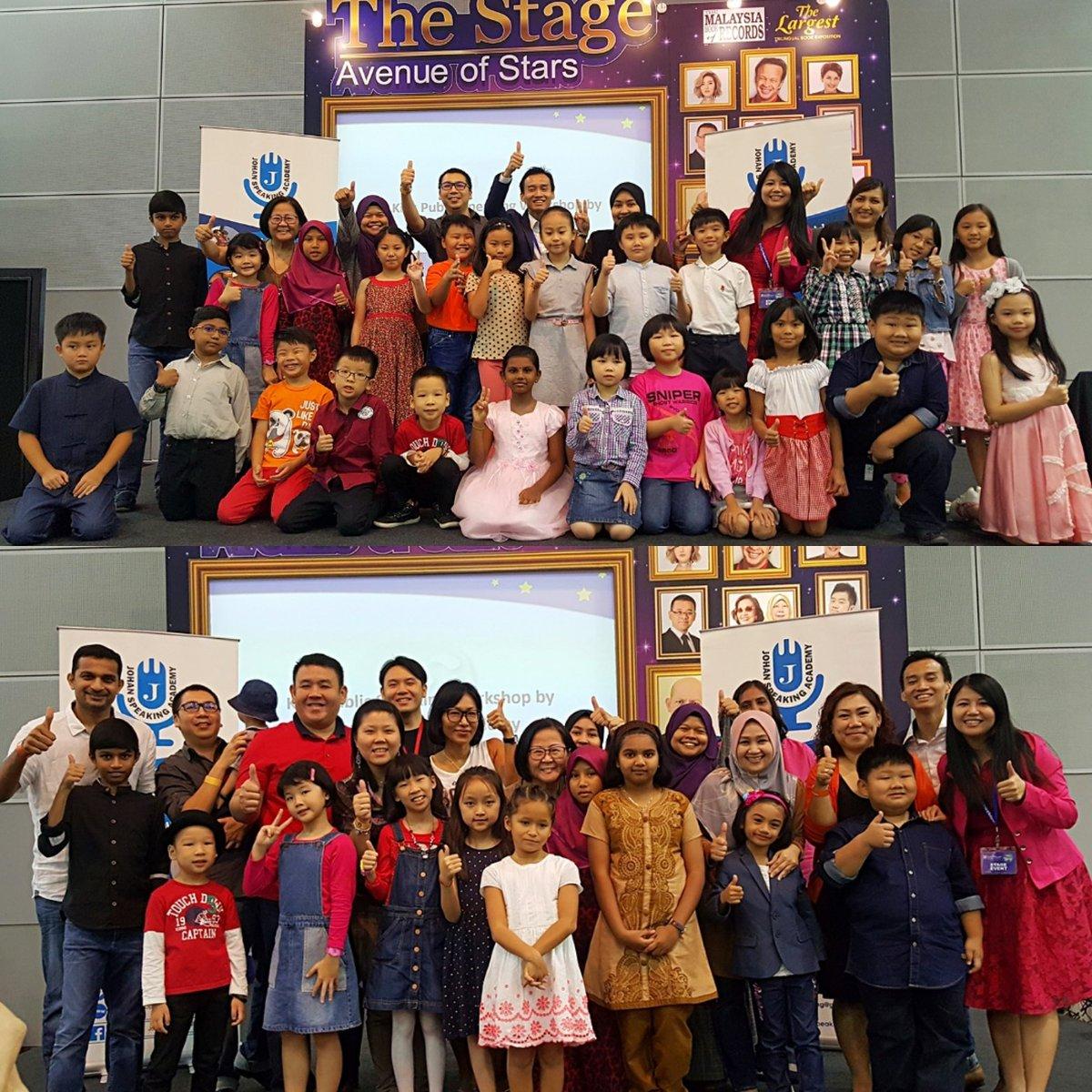 Great job kids, you are awesome. #kidspublicspeaking #johanspeakingacademy #popularbookfest #klcchall5 #klcc #stagetime #kids