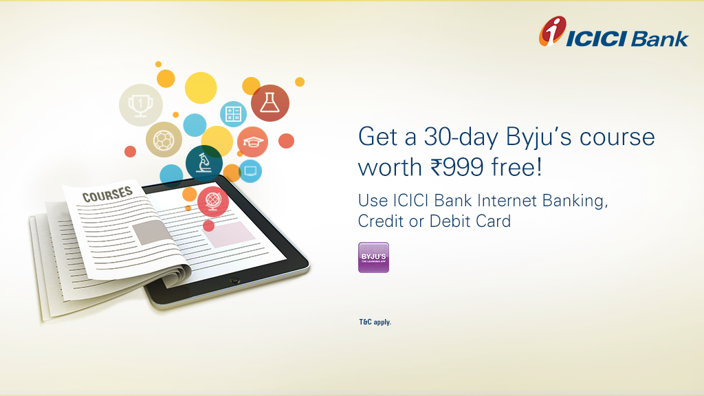 """icici bank on twitter: """"download byju's learning app & let your kids"""
