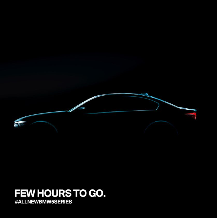 The countdown begins. The #AllNewBMW5Series is unveiling at 12:30 pm t...