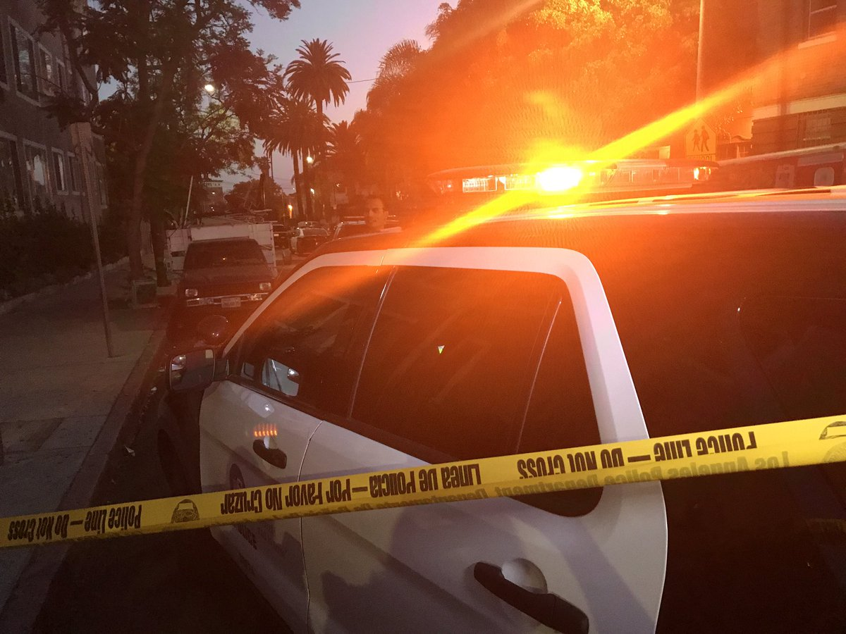 #update #lapd #OIS - witness says police 1st fired non lethal rounds b...