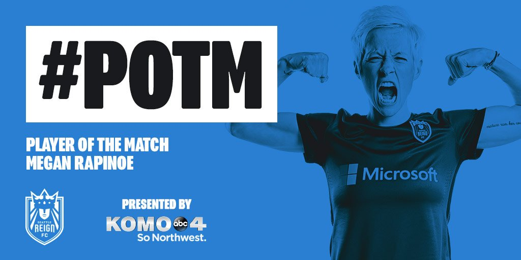Tonight's Reign FC player of the game is Megan Rapinoe! #SEAvCHI https...
