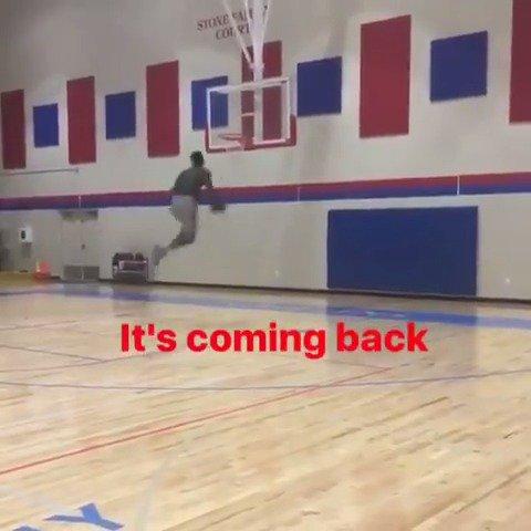 Return of Zion 🙌 (via flyyyguy23, zionlw10/Instagram)