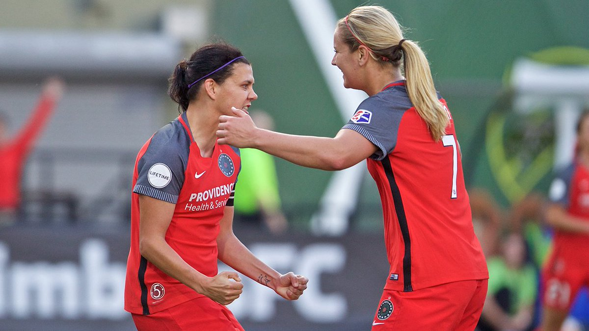 A @sincy12 brace, @HayleyRaso's first-career #NWSL goal help Thorns pa...