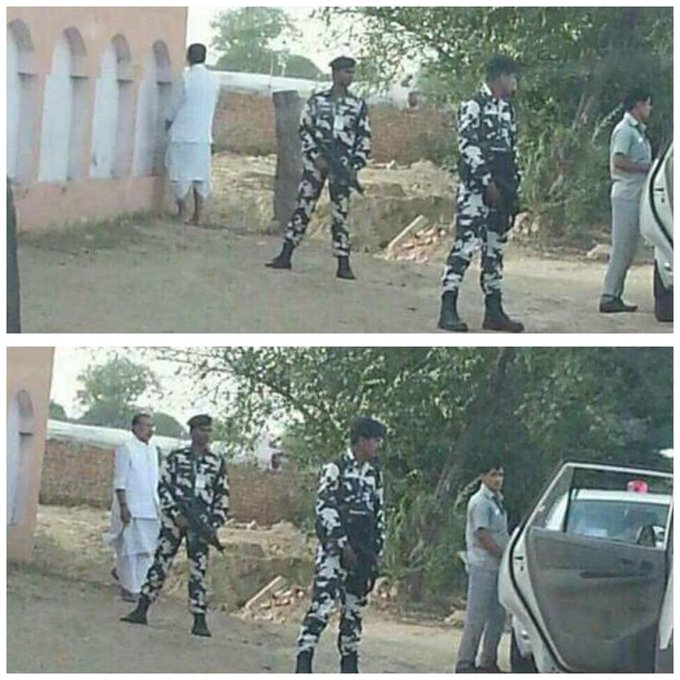 Mocking PM's #SwachhBharat mission, Agriculture Min Radha Mohan Singh was spotted urinating in open while his security guards stand nearby