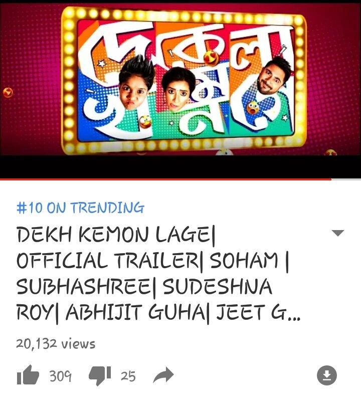 @myslf_soham @subhashreesotwe @GRASSROOTENT trending position #10th #DekhKemonLage trailer  https:// youtu.be/egVKedxmhLs  &nbsp;  <br>http://pic.twitter.com/jDFtE6XhqI