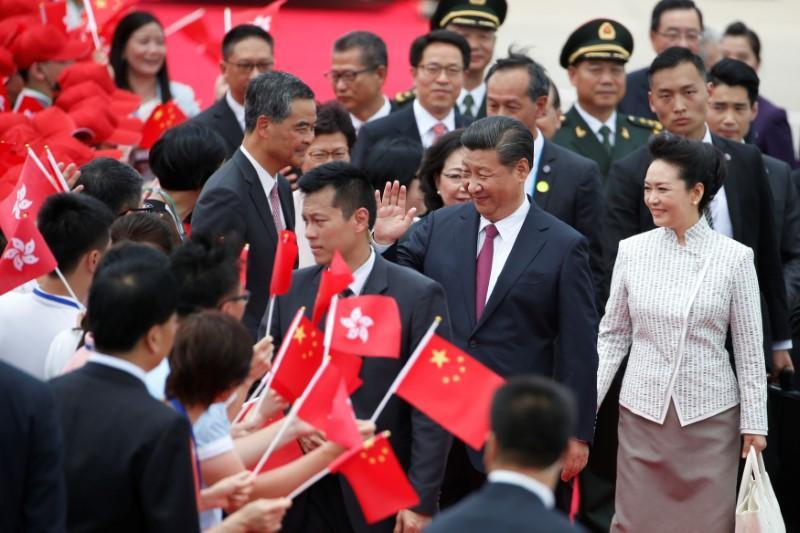 China's president arrives in Hong Kong to mark handover anniversary ht...