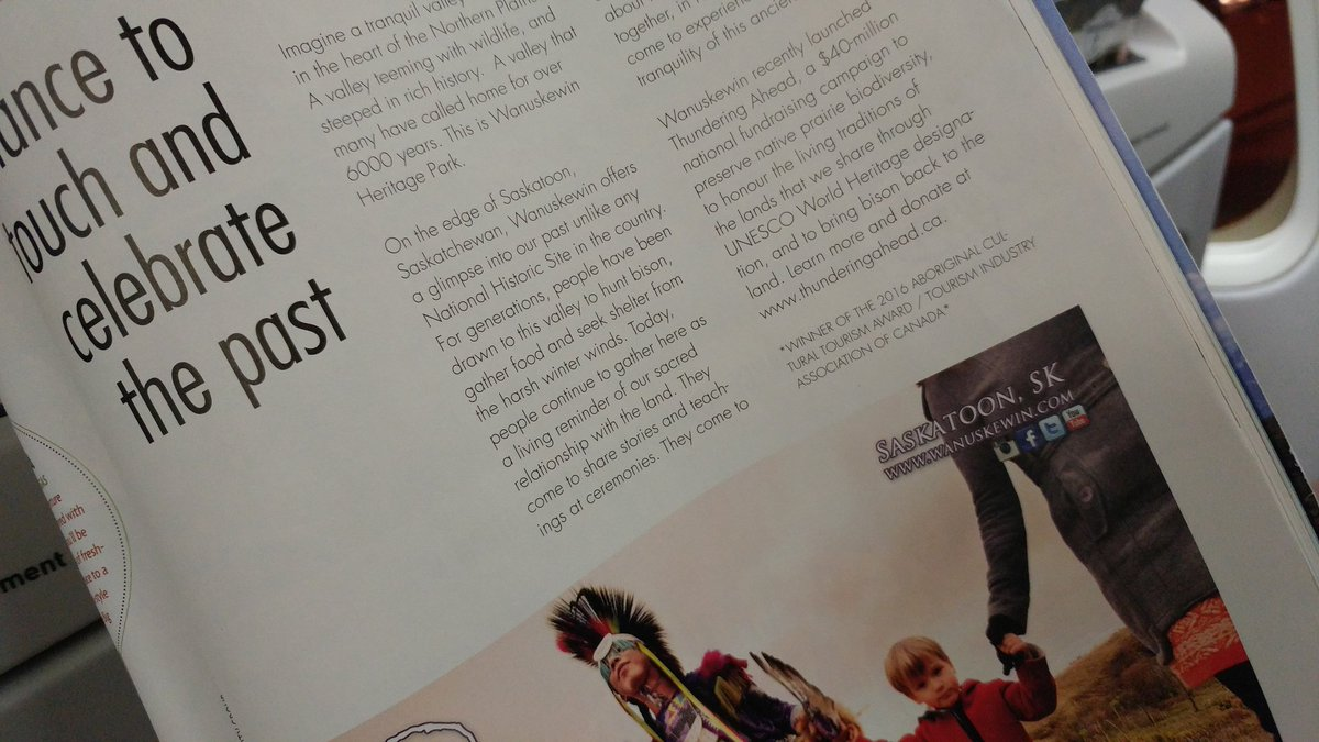 Great to see @Wanuskewin_Park in @WestJet magazine! @VisitSaskatoon @S...