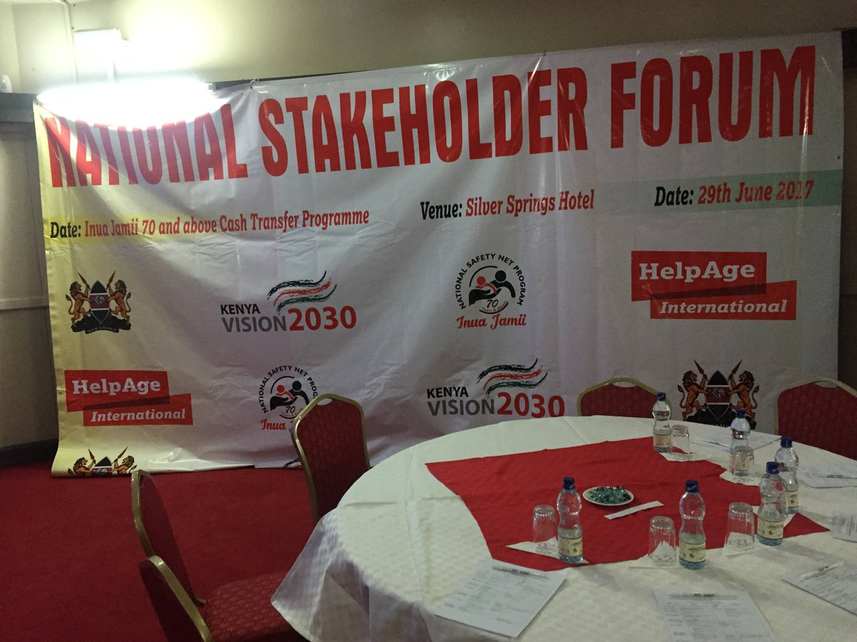 #Kenya&#39;s National Stakeholders Forum on Social Pension #InuaJamii70 is underway. Building systems tops agenda as political support assured.<br>http://pic.twitter.com/TtLlaXxUmZ