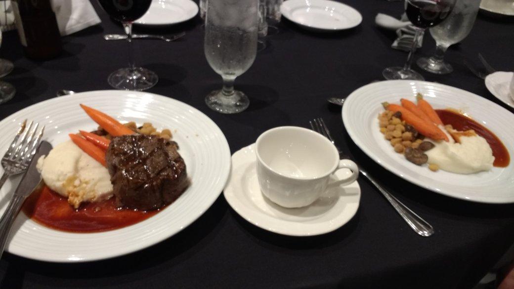 ISOPE non-veggie Vs veggie dinner #ISOPE