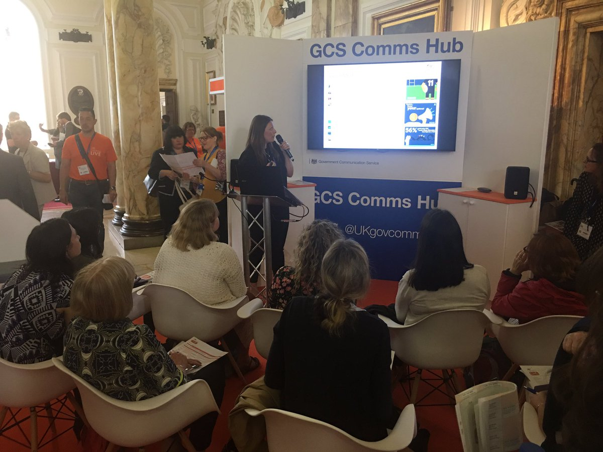 Clare Mumford from Organ Donation Wales presents at the @UKgovcomms hu...