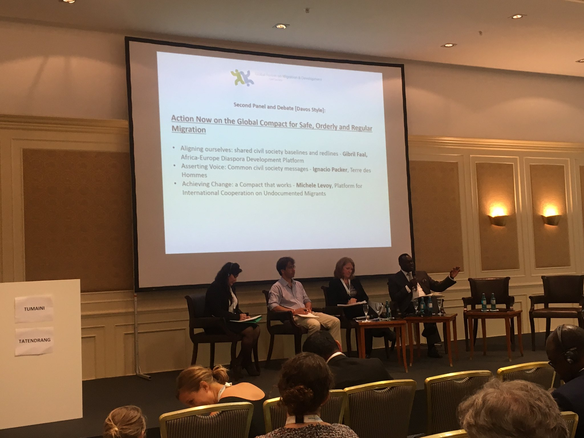 Gibril Faal: 4 principles for the global compact: firewalls, regularization, transnationality & no criminalization of solidarity #gfmd_csd https://t.co/kUgszLzoTe