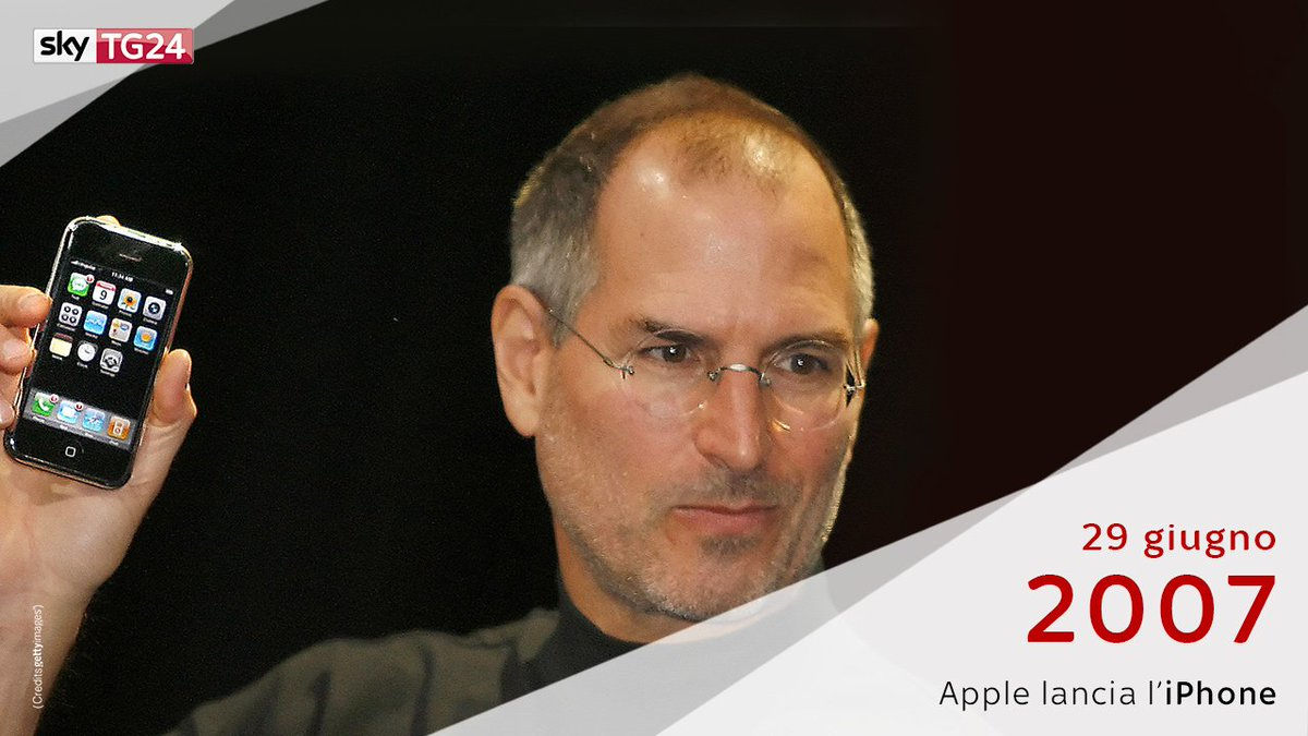 Il #29giugno 2007 #Apple lanciava sul mercato il primo #iPhone.📱#SkyTG...