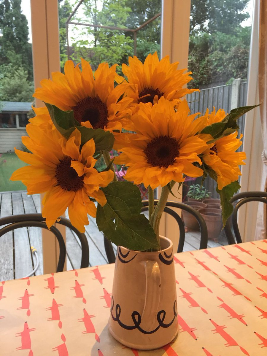 Morning! Sunflowers can&#39;t help but make you smile when you come down for breakfast #sunflowers #fabflorals<br>http://pic.twitter.com/TsLO0reSnb