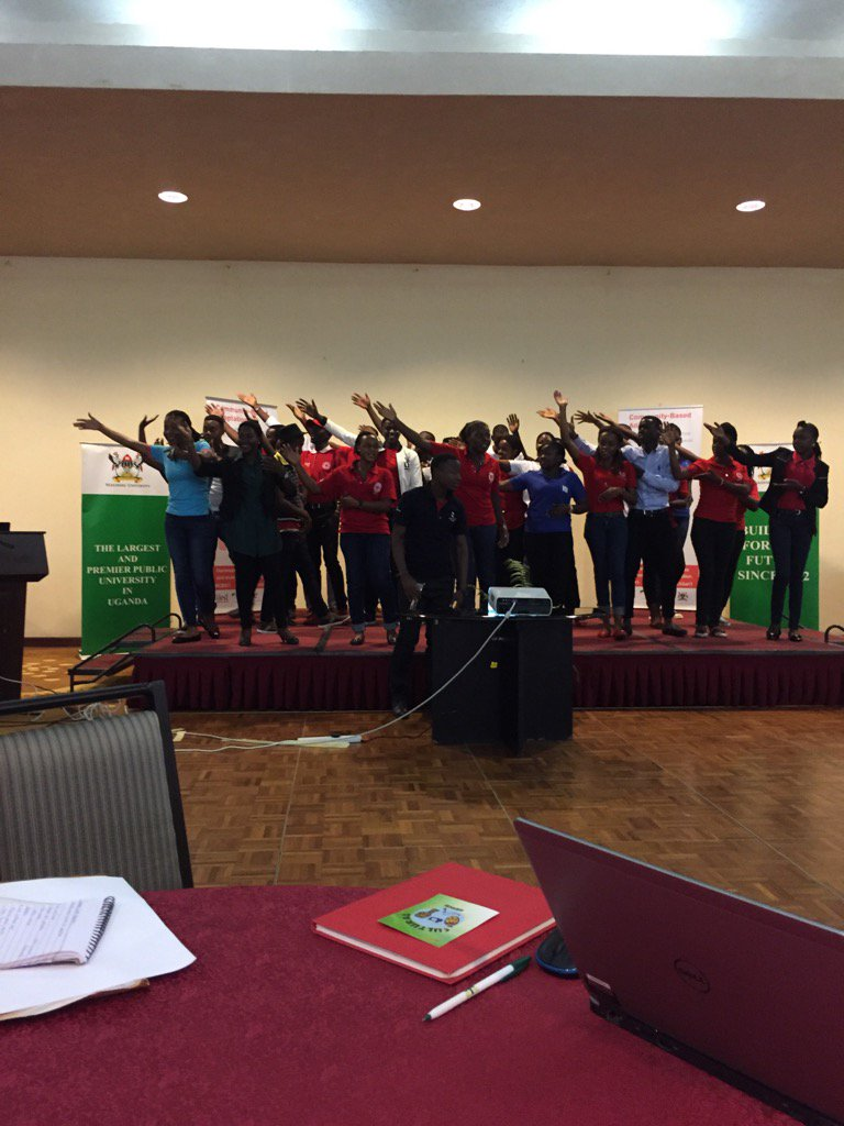 Flash mob hits #cba11 with messages of responding to floods #youthCBA11 https://t.co/RDR5mIyuCz