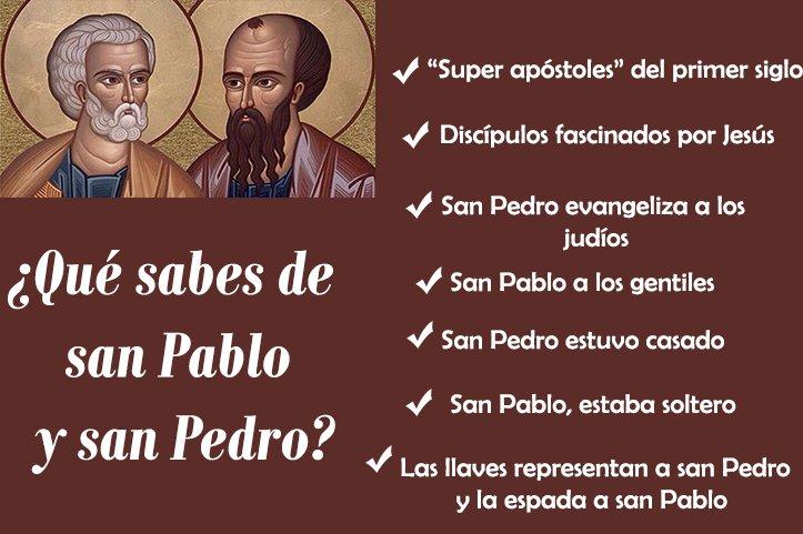 ¡Felicidades a todos los #Pedros y #Pablos! #Santos https://t.co/CmxcB...