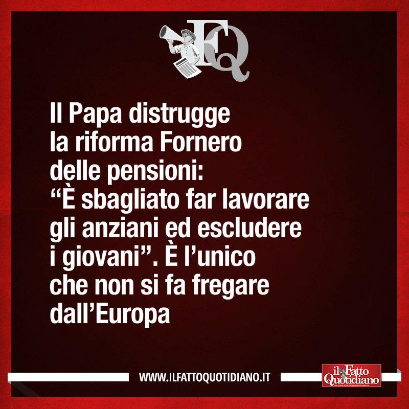 LA FRASE DEL FQ DI OGGI https://t.co/Zg7CjPLPQP #FattoQuotidiano #Papa...