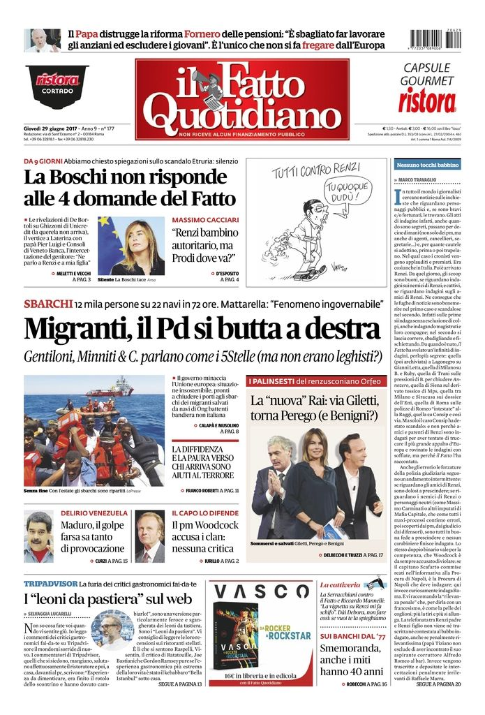 MIGRANTI, IL PD SI BUTTA A DESTRA https://t.co/Zg7CjPLPQP  #FattoQuoti...