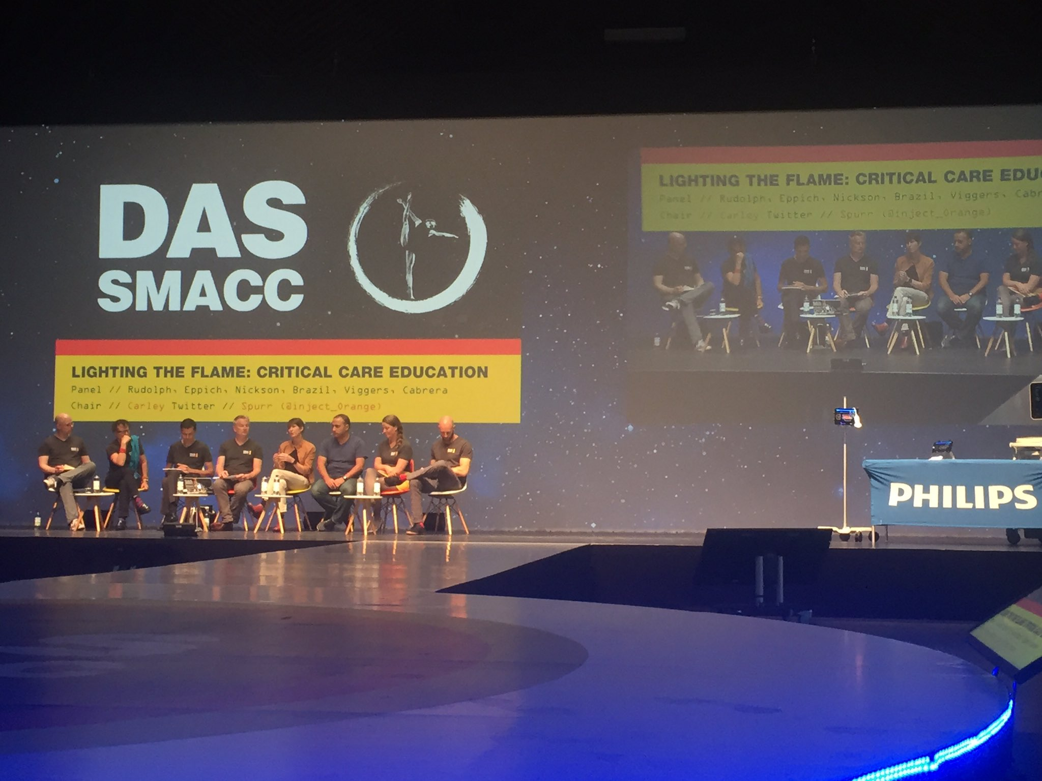 An exciting panel on the future of #meded at #dasSMACC. Awesome educators and some genuinely lovely human beings. https://t.co/kD2kKOdYDM