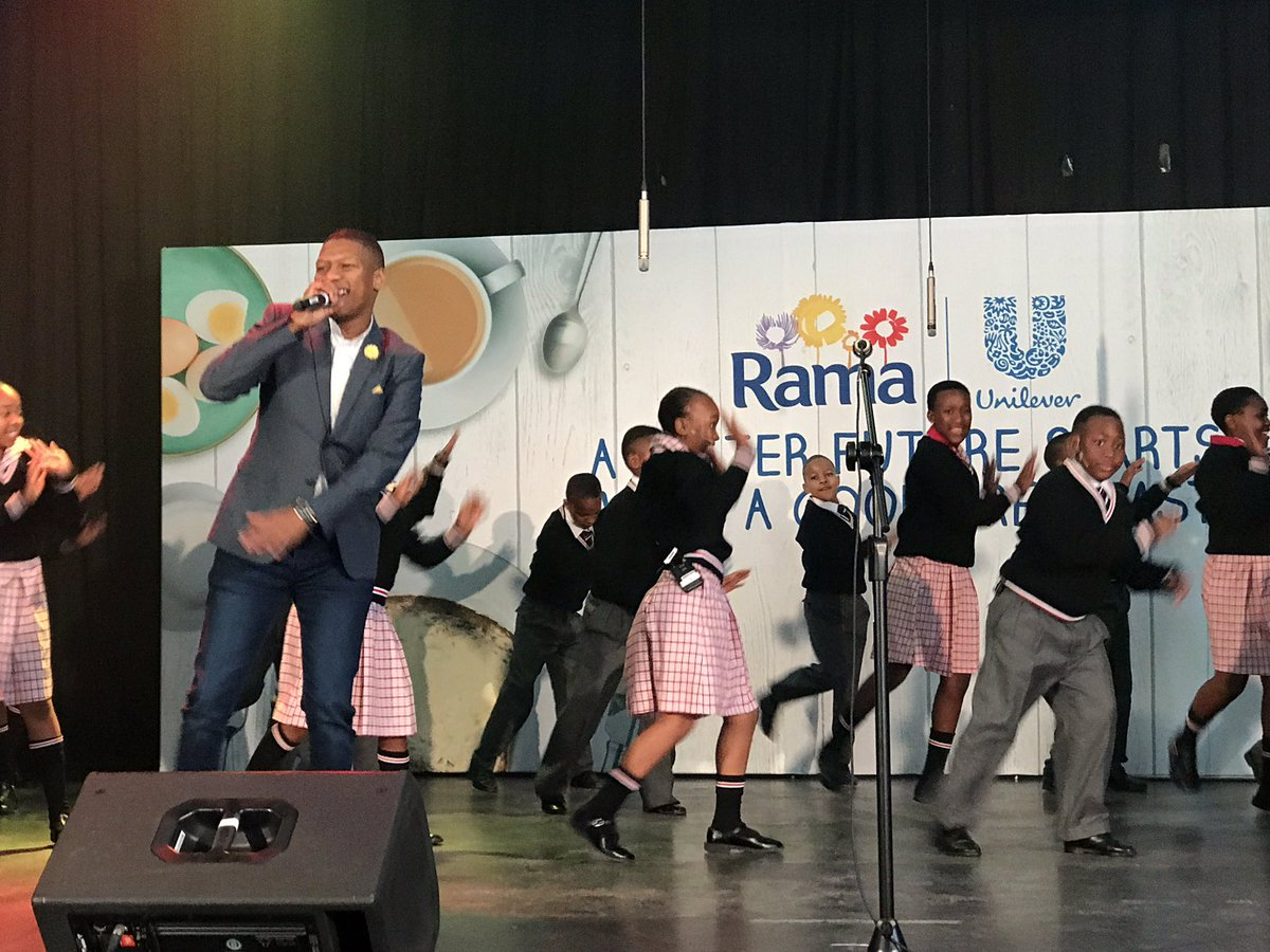 My crew and I performing the #GoodBreakfast Beat at the @RamaSouthAfri...