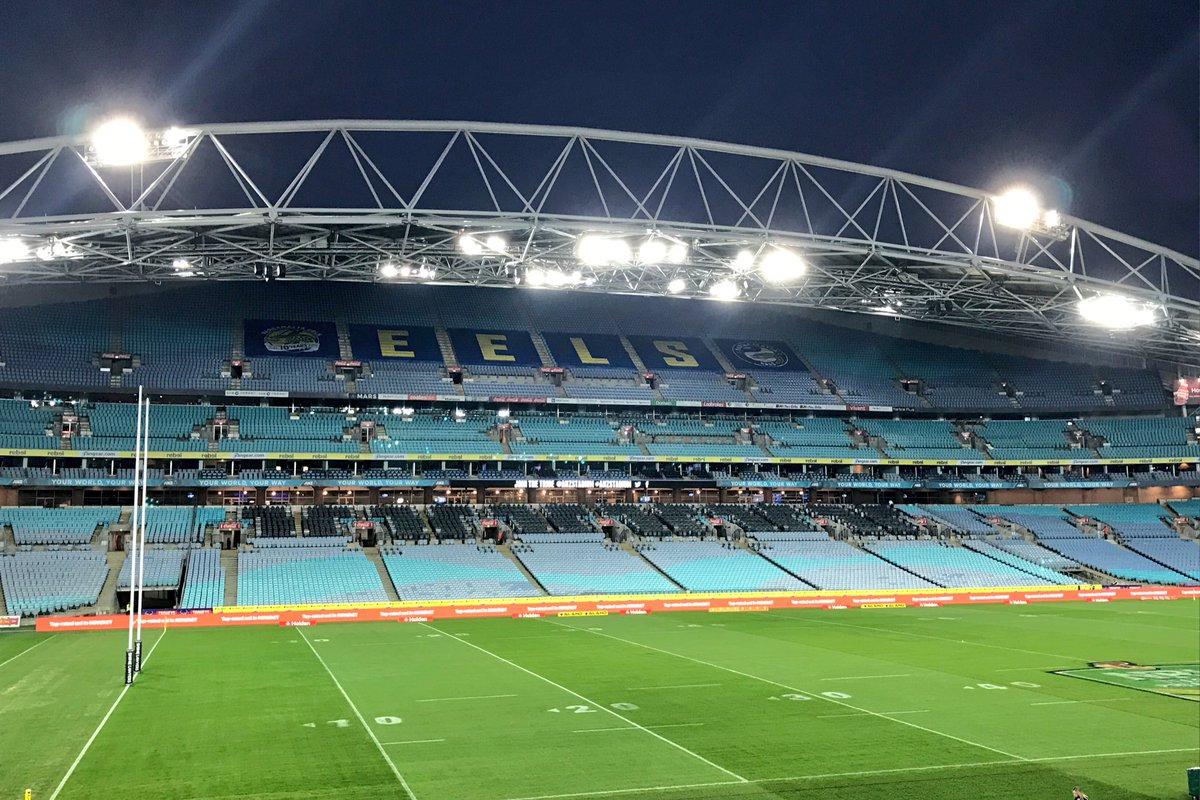 GATES open & we are ready to go for #NRLEelsBulldogs tonight! http...