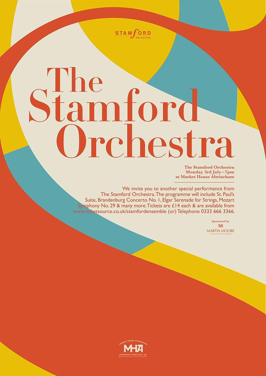 Summer Music by @StamfordOrchest at @MarketHouseAlty  Monday July 3rd, 7PM. Tickets:  https://www. ticketsource.co.uk/stamfordensemb le &nbsp; …  #Altrincham #Orchestra <br>http://pic.twitter.com/IEuQMYtixX