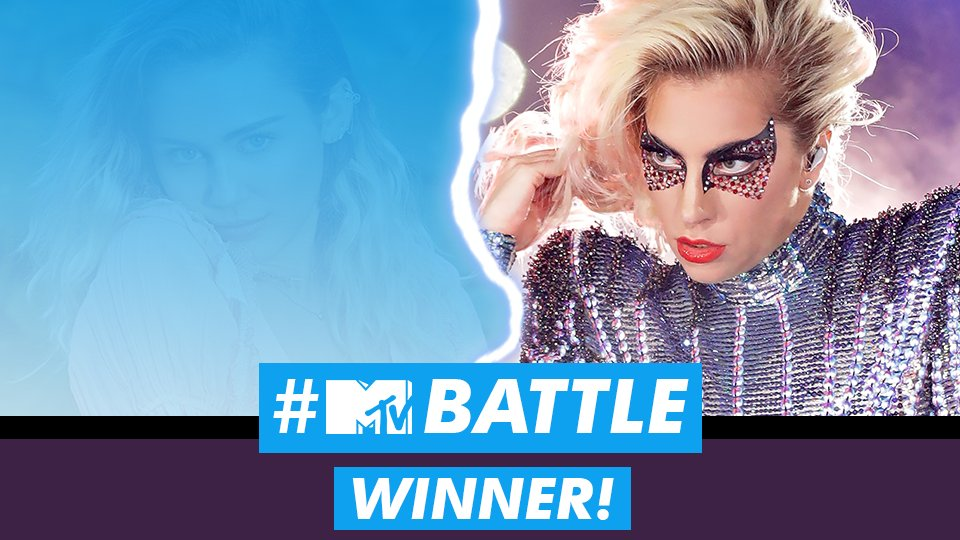 WINNER: #TEAMLADYGAGA 🙏 #MTVBATTLE #LadyGaga #LittleMonsters https://t...