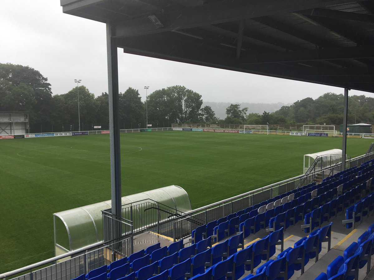 Arrived at @bangorcityfc. Huge day ahead getting everything in place f...