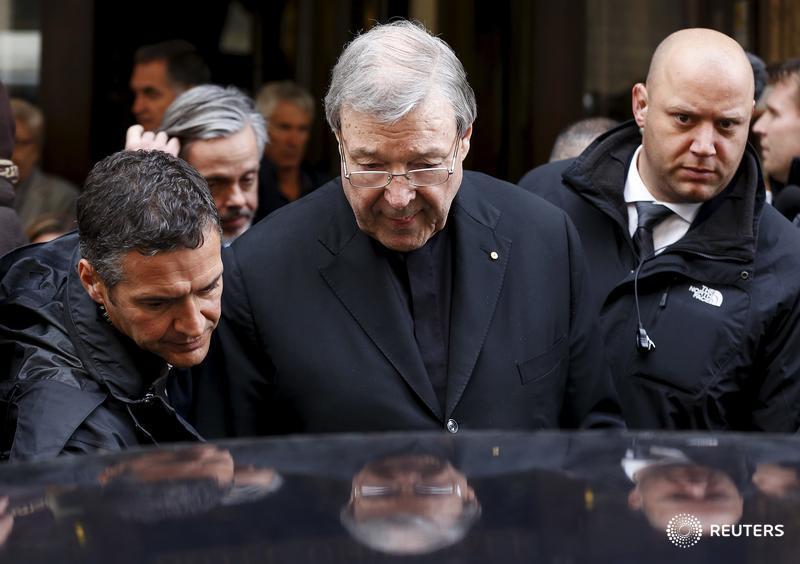 Australian Catholic Church says Cardinal Pell 'strenuously denies' sex...