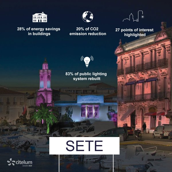 [#infographic] @villedesete more #sustainable, #economical &amp; #attractive with @Citelum  #SmartCity<br>http://pic.twitter.com/2E6FidA3W1